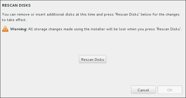 Rescanning Disks