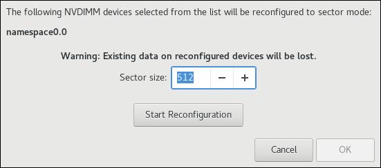 Reconfigure NVDIMM