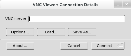 Información de conexión de TigerVNC