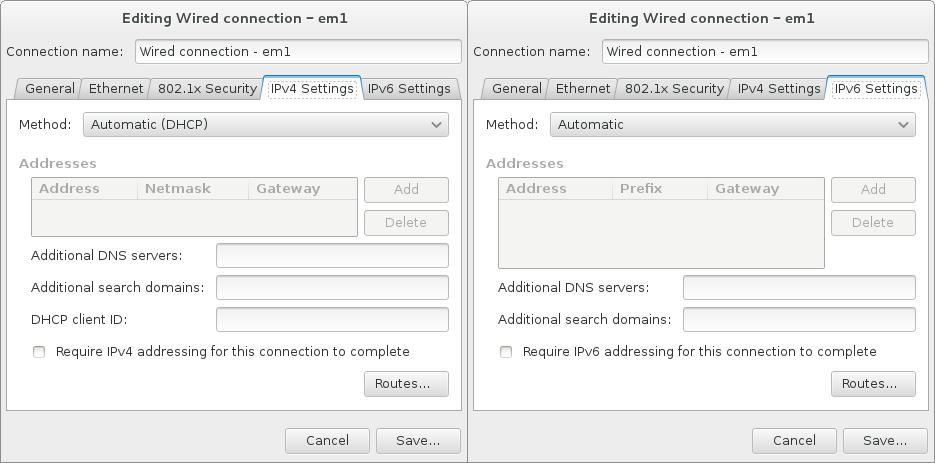 Configurações de Protocolo IP
