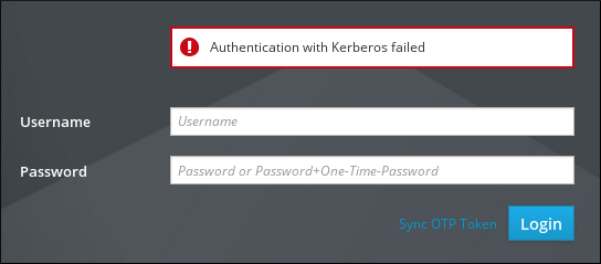 Kerberos Authentication Error