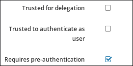 Adding the REQUIRES_PRE_AUTH flag