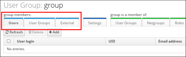 Adding User Group Members