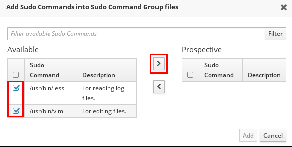Adding Commands to a sudo Command Group