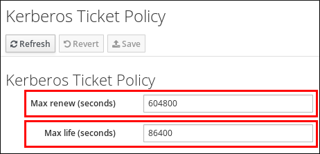 Configuring the Global Kerberos Ticket Policy