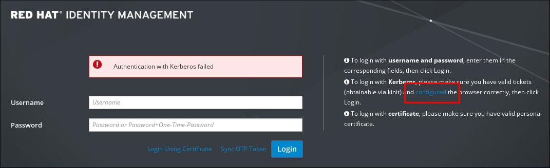 Web UI でのブラウザー設定へのリンク