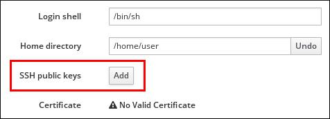 アカウント設定の SSH 公開鍵