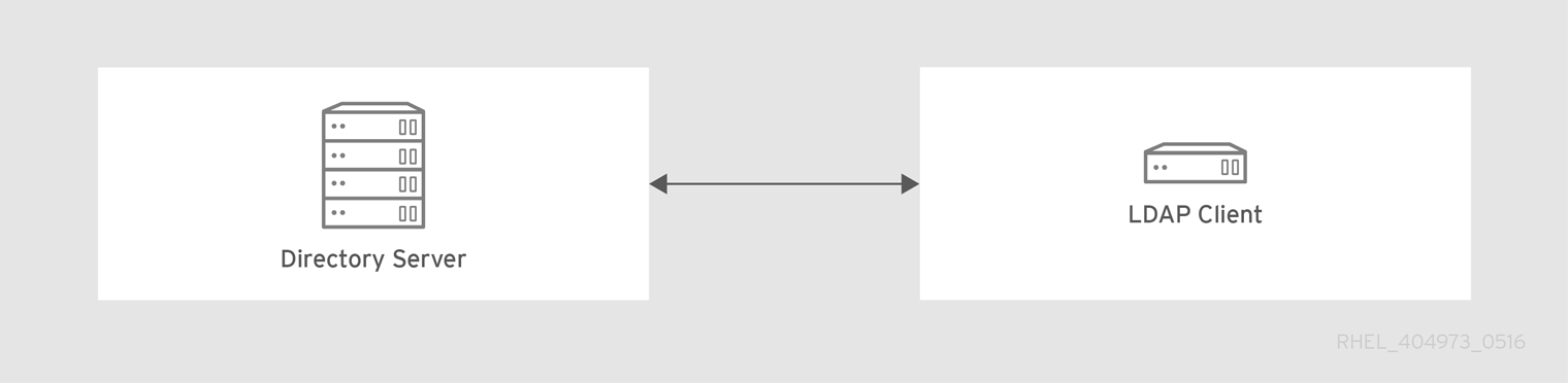 基本的な LDAP ディレクトリーとクライアント設定
