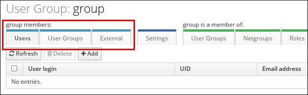 ユーザーグループメンバーの追加