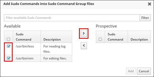 sudo コマンドグループへのコマンドの追加