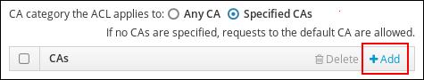 CA を CA ACL に追加する