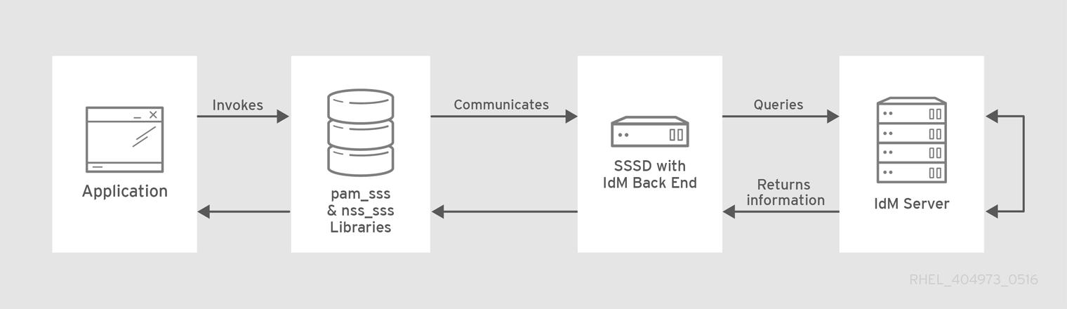 IdM バックエンドによるクライアントおよび SSSD