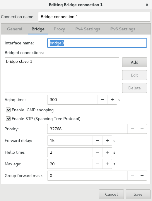 Editing Bridge Connection 1