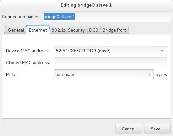 Pour que l'interface utilisateur graphique du NetworkManager ajoute un menu de connexion de pont.