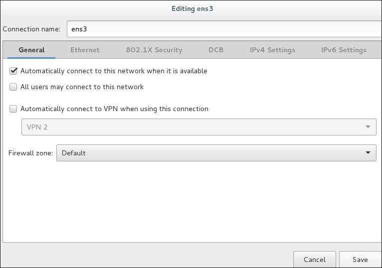 nm-connection-editor における設定オプション