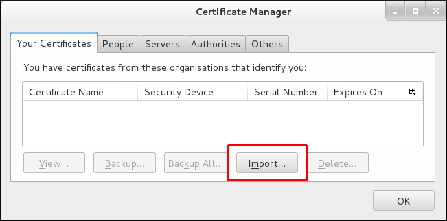 Importing a Personal Certificate for Authentication in Thunderbird