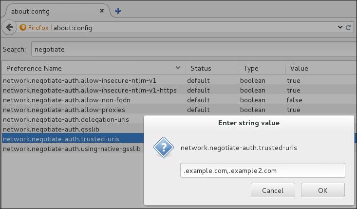 手動での Firefox の設定