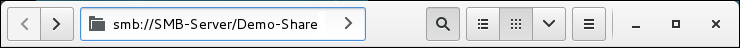 Entering an SMB URL in Nautilus