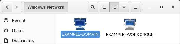 Domains and Work Groups Browsing in Nautilus