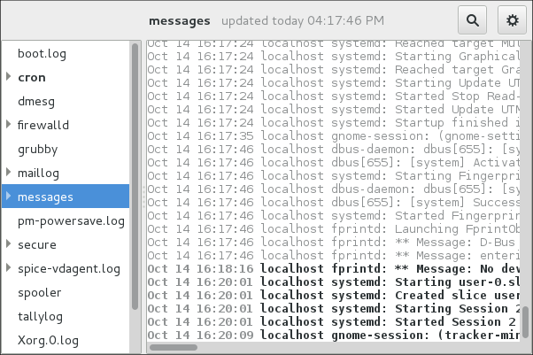 System Log - nouvelle alerte de journal