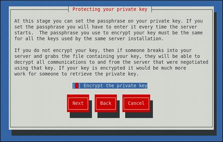 Chiffrer la clé privée