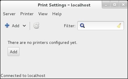 Fenêtre «Print Settings»