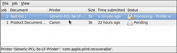 GNOME 印刷の状態