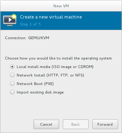 Virtual machine installation method