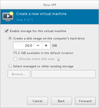 Configuring virtual storage
