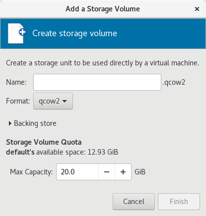 Create storage volume