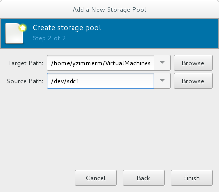 Storage pool path