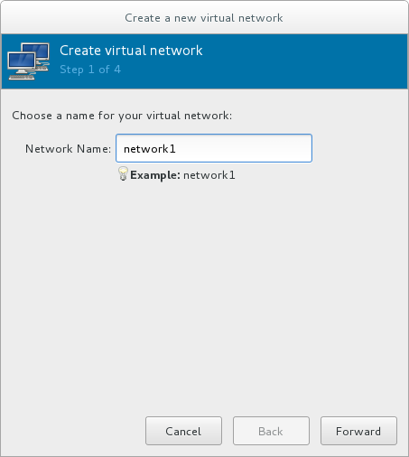Naming your new virtual network