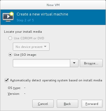 ローカル ISO イメージのインストール