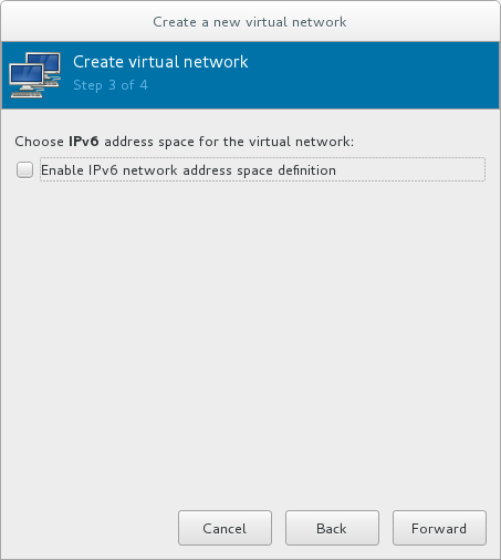 IPv6 の有効化