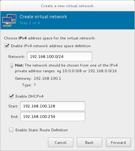 IPv4 アドレス空間の選択