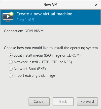 Select the installation method