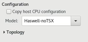 CPU 構成のオプション