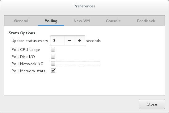 Enabling memory usage