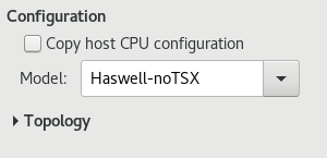 CPU Configuration Options