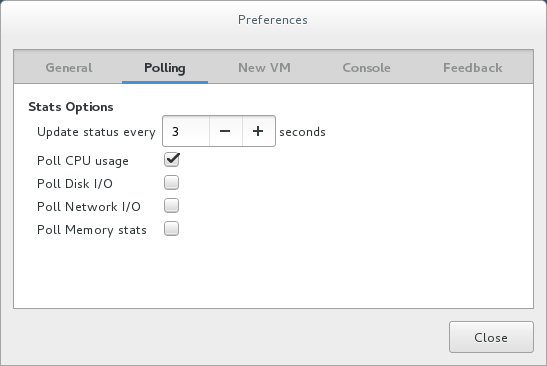 Configuring performance monitoring