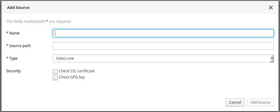 image builder sources options