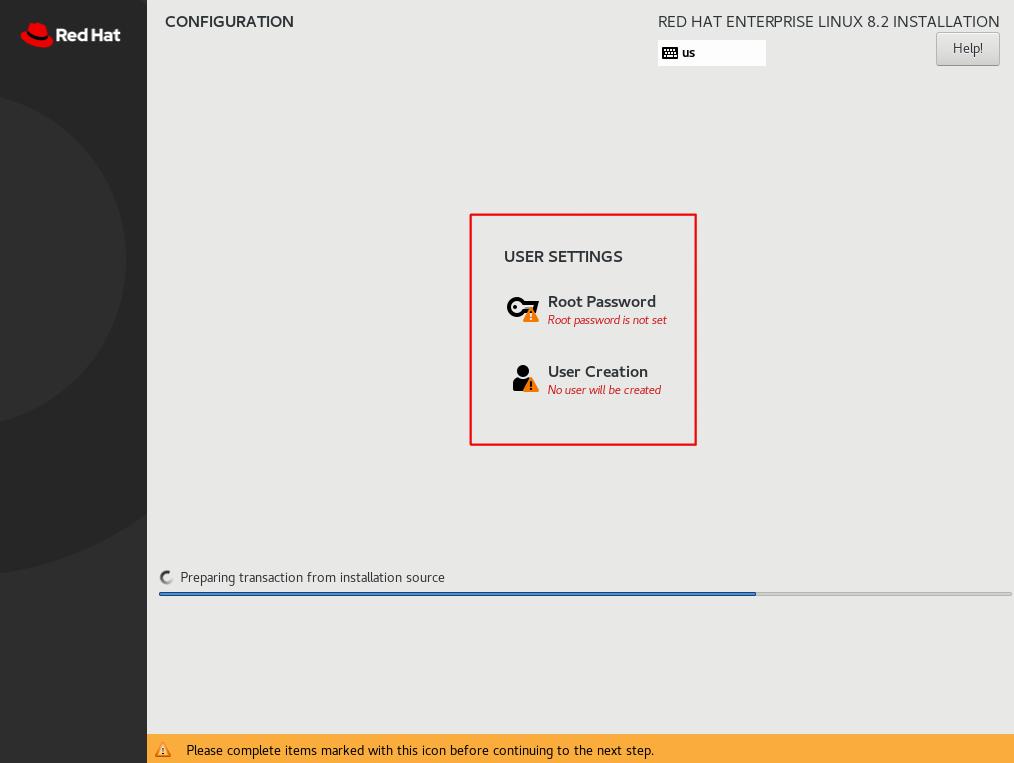 sap rhel8.2 user configuration