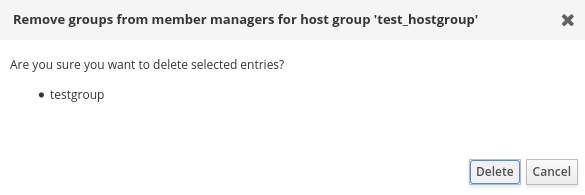 idm removing host group member managers