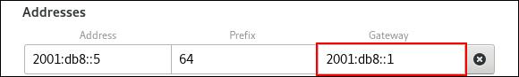 set default gw in control center ipv6