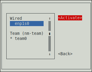 nmtui Activate a Modified Connection
