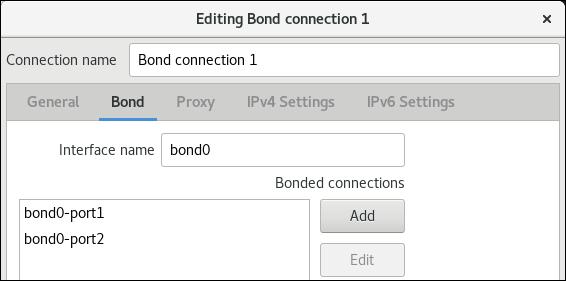 añadir nic a bond en el editor de conexiones nm