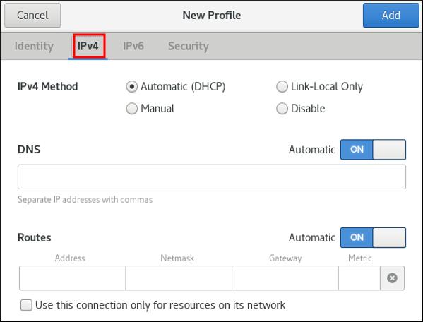 IPv4 有線