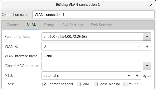 vlan settings nm connection editor