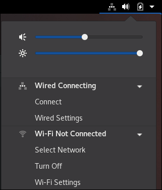 拡張されたネットワーク接続アイコン