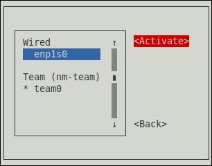 nmtui で修正した接続をアクティブに
